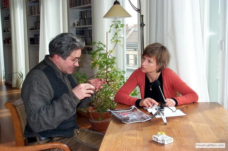 Tonaufnahmen mit Corinna Harfouch (Foto: Kay Zeisberg)
