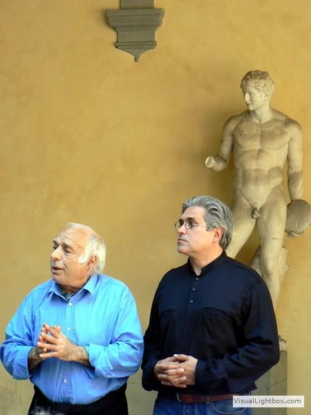 Karl Huck beim Workshop mit Nino Campagna in der Kunstakademie Florenz