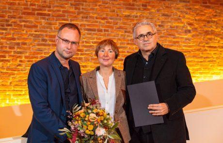 Konrad Hirsch, Wiebke Volksdorf und Karl Huck (v.l.n.r.) nach der Preisverleihung (Fotos: Reinhardt & Sommer)